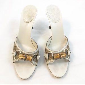 Gucci GG Slide Sandals with Horse Bit Sz 7.5
